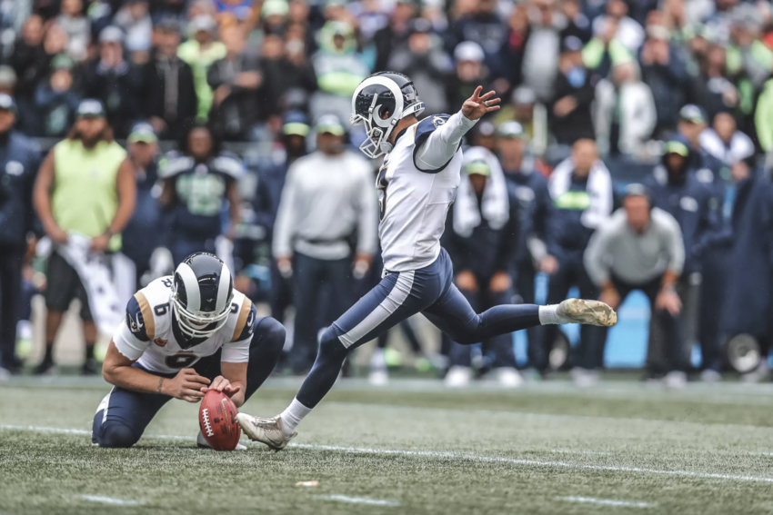 Los Angeles Rams garante vitória contra Seahawks na Semana 5 da NFL 2018 com Cairo Santos.