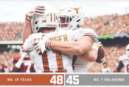 Em jogo espetacular, Texas evita virada histórica e supera Oklahoma - The Playoffs