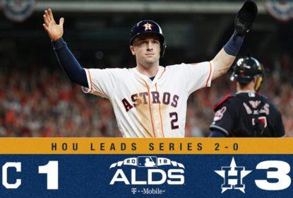 Houston Astros vence Cleveland Indians e fica a uma vitória da ALCS