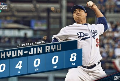 Sem sustos, Dodgers vencem Braves e saem em vantagem na NLDS - The Playoffs