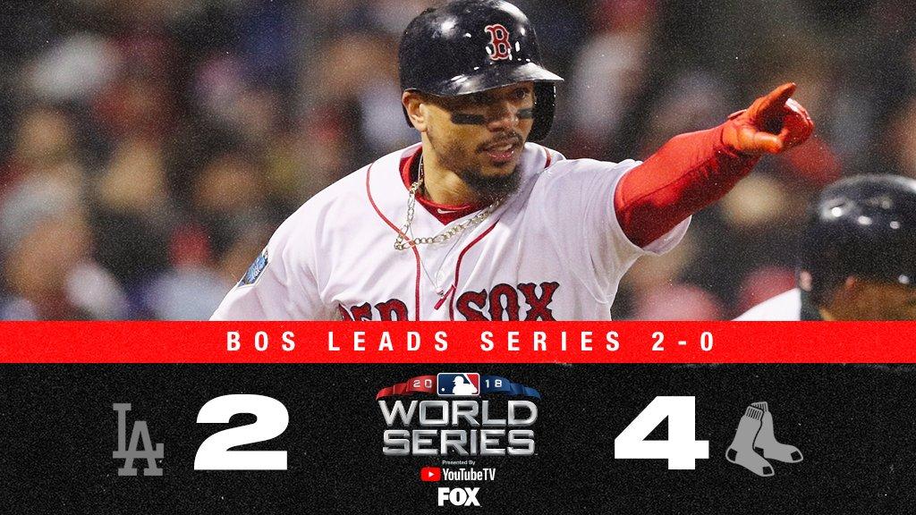 Red Sox vencem Dodgers e ampliam vantagem na World Series