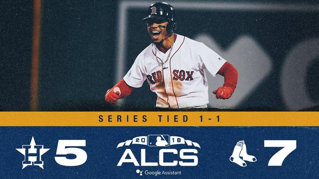 Red Sox conseguem importante vitória contra Astros e igualam ALCS