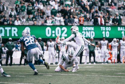 Kicker Jason Myers estabelece recorde em vitória do New York Jets sobre o Indianapolis Colts