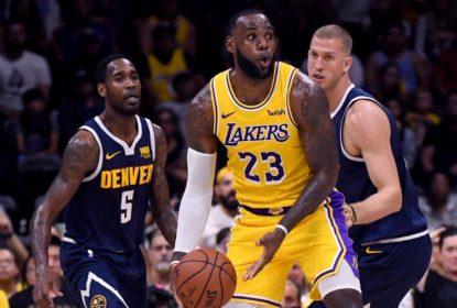 Na estreia de LeBron, Nuggets batem Lakers na pré-temporada da NBA - The Playoffs