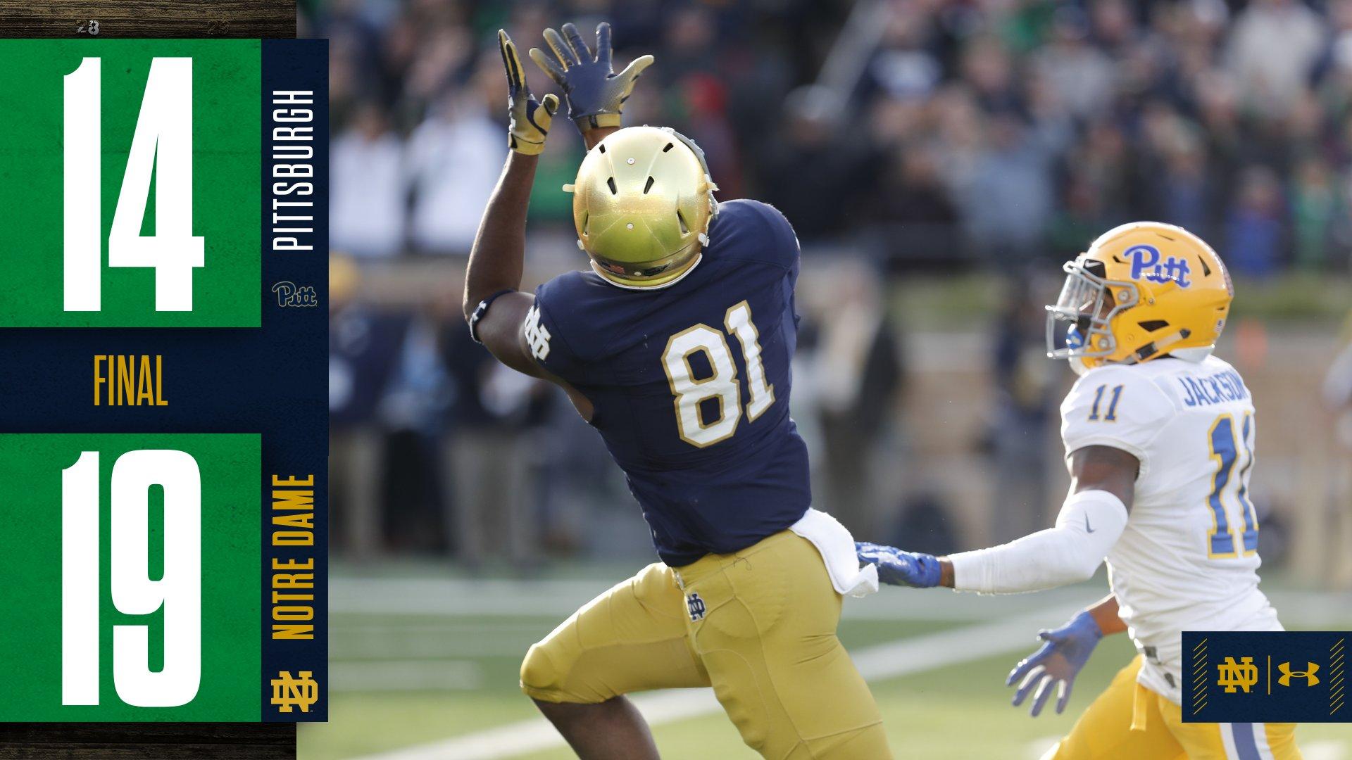Notre Dame derrota Pitt