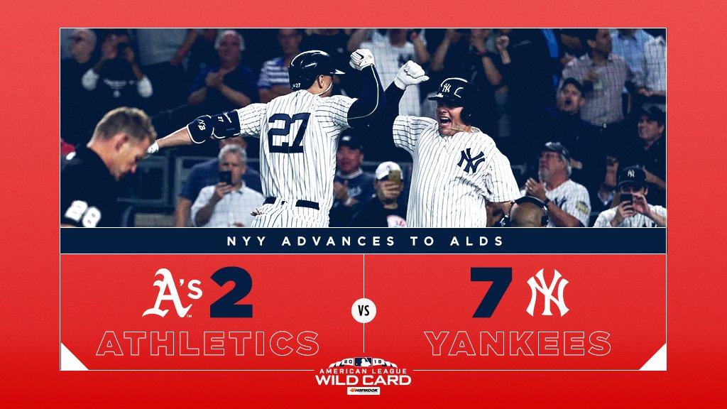 Sem maiores problemas, Yankees eliminam Athletics e vão à ALDS