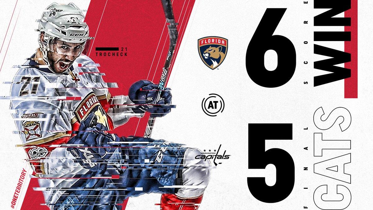 No shootout, Panthers derrotam Capitals e conquista 1º triunfo em 2018-19