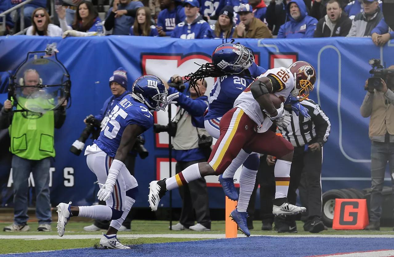Giants perdem em casa para Redskins na Semana 8 da NFL 2018.