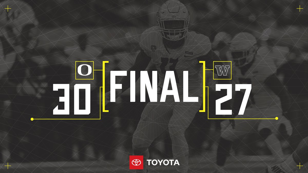 Oregon consegue vitória fundamental sobre rival Washington