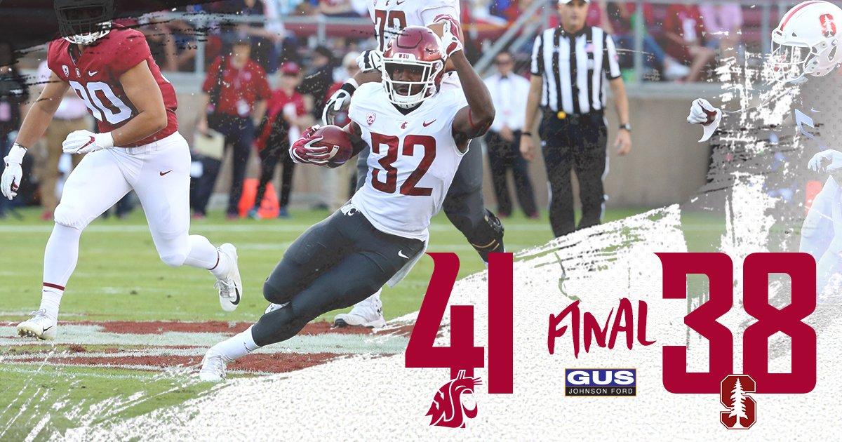 Com field goal nos segundos finais, Washington State vence Stanford