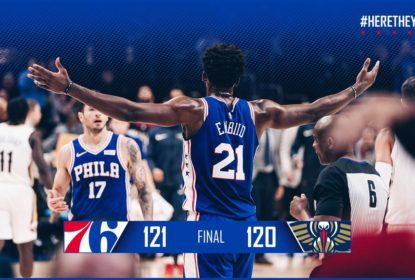 Com primeiro quarto espetacular e sufoco no fim, 76ers derrotam Pelicans