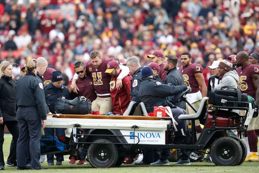 Alex Smith do Washington Redskins sofre lesao grave