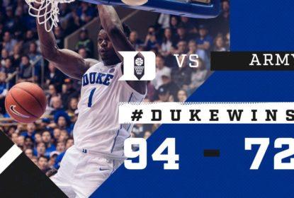 Com mais uma aula de Williamson, Duke bate Army - The Playoffs