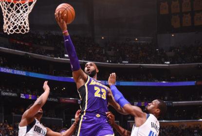 LeBron James garante vitória do Los Angeles Lakers sobre o Dallas Mavericks no fim - The Playoffs