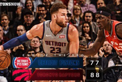 Detroit Pistons vence o Toronto Raptors fora de casa