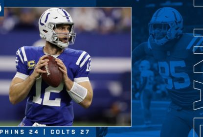 Andrew Luck Indianapolis Colts vencem Miami Dolphins