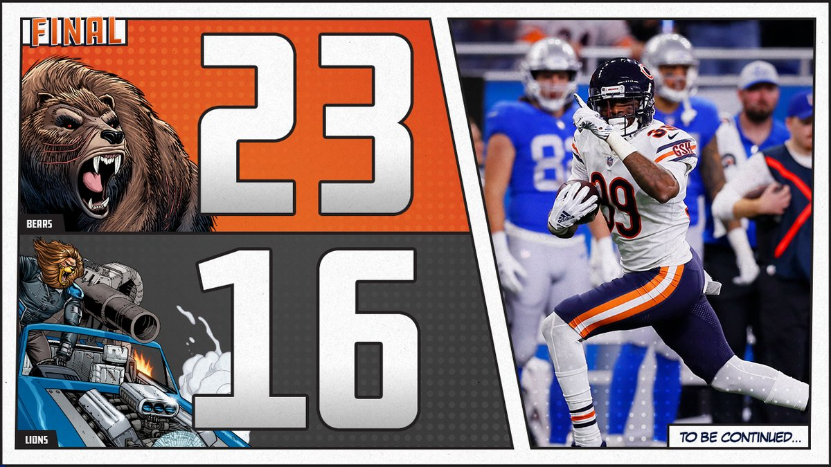 Chicago Bears abre rodada do Thanksgiving Day na NFL com vitória sobre o Detroit Lions