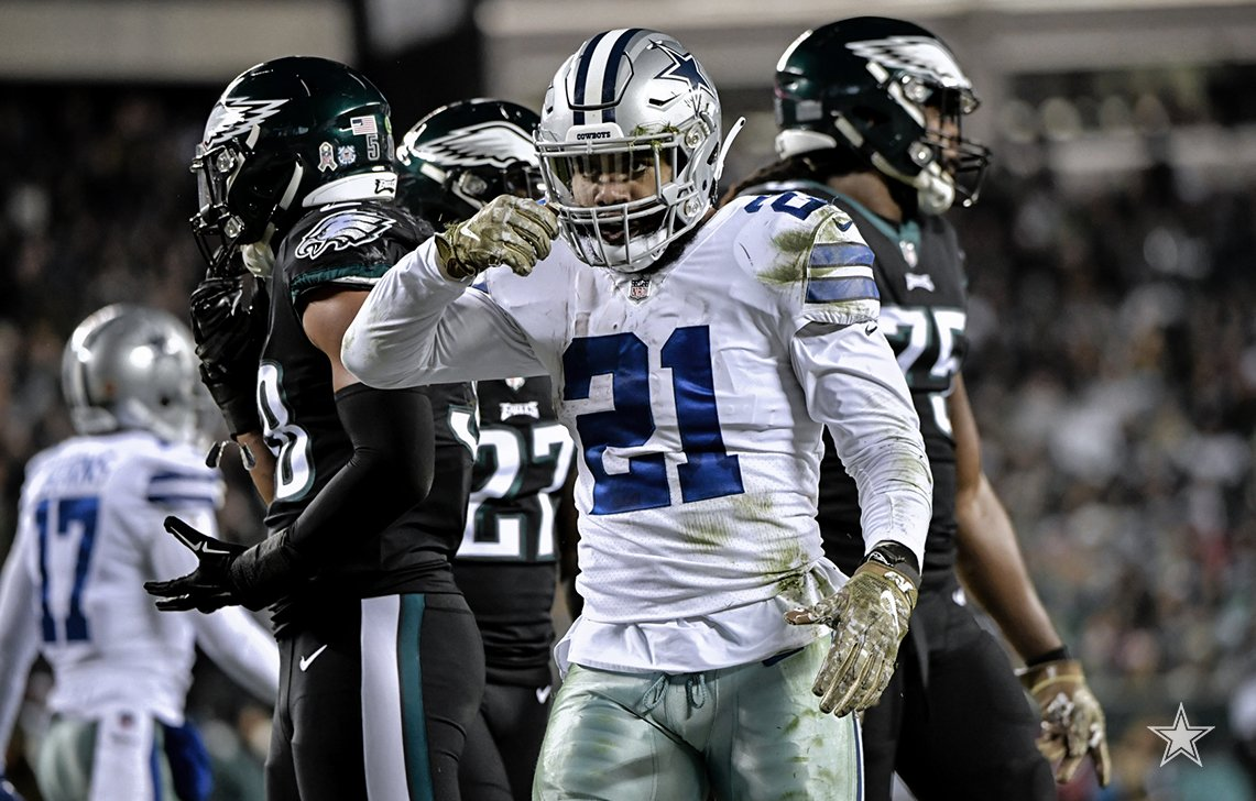 Running back do Dallas Cowboys Ezekiel Elliott deve pontuar bem na semana 11 do Fantasy Football da NFL 2018