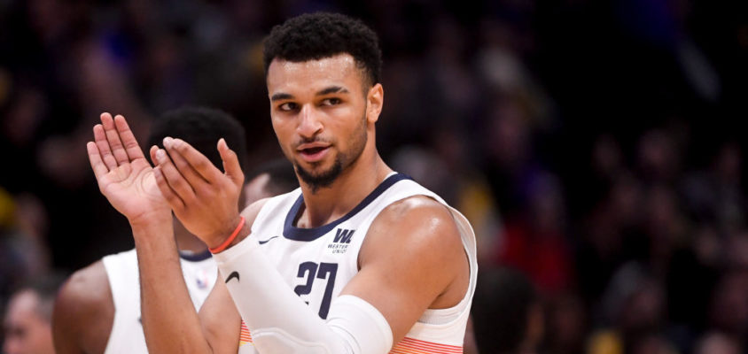 DENVER, CO - NOVEMBER 27: Jamal Murray (27) of the Denver Nuggets claps during the second half of the Nuggets' 117-85 win over the Los Angeles Lakers on Tuesday, November 27, 2018. The Denver Nuggets hosted the Los Angeles Lakers at the Pepsi Center