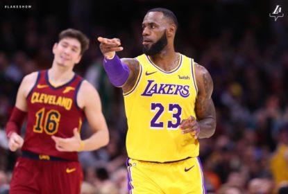 LeBron James lidera vitória dos Lakers sobre os Cavaliers
