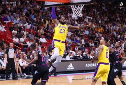 Com 51 pontos de LeBron James, Lakers passam pelo Heat - The Playoffs