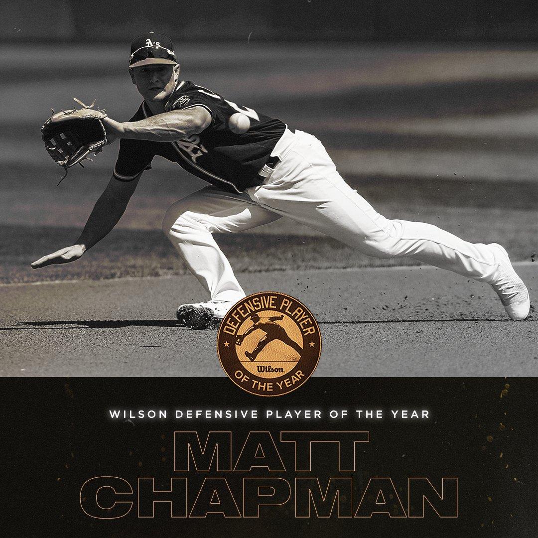 Matt Chapman, 3B dos Athletics, é eleito jogador defensivo de 2018