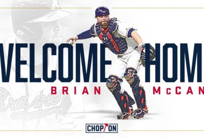 Brian McCann assina contrato de um ano com Atlanta Braves