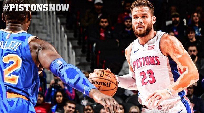 Comandados por Blake Griffin, Pistons vencem os Knicks