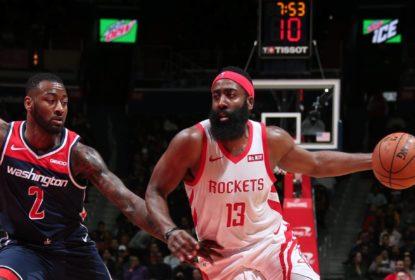 Harden faz 54 pontos, mas Wizards vencem Rockets na prorrogação