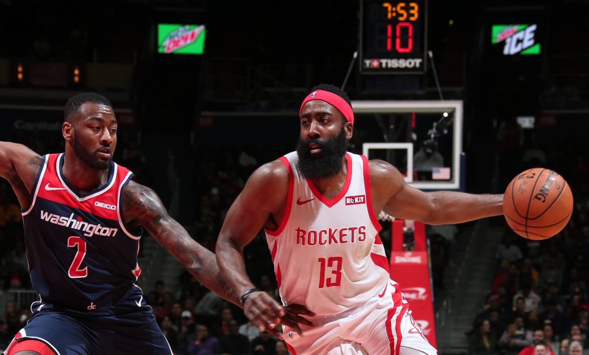 f97e14816c Harden faz 54 pontos, mas Wizards vencem Rockets na prorrogação ...