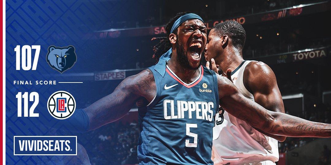 Em grande partida, Clippers vencem Grizzlies no tempo extra