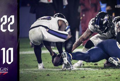 Defesa dá show e Baltimore Ravens vence LA Chargers fora de casa - The Playoffs