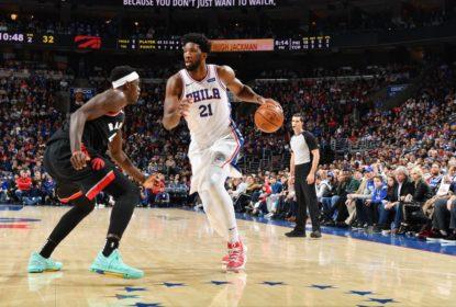 Embiid e Simmons se destacam e 76ers vencem os Raptors desfalcados - The Playoffs