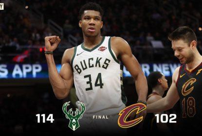 Giannis Antetokounmpo iguala melhor marca da carreira e Bucks vencem Cavs - The Playoffs