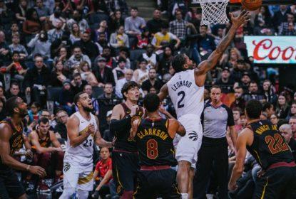 Mesmo cheio de desfalques, Kawhi faz 37 pontos e Raptors vencem Cavaliers