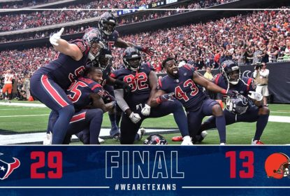 Houston Texans bate Cleveland Browns em casa por 29 a 13