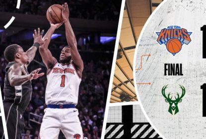 New York Knicks acerta 20 bolas de três pontos para vencer o Milwaukee Bucks - The Playoffs