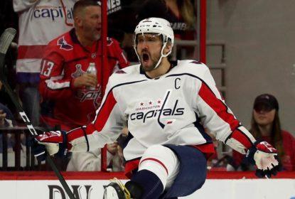 Ovechkin anota segundo hat trick seguido e Capitals vencem Hurricanes - The Playoffs