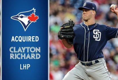 Blue Jays adquirem arremessador Clayton Richard em troca com os Padres - The Playoffs