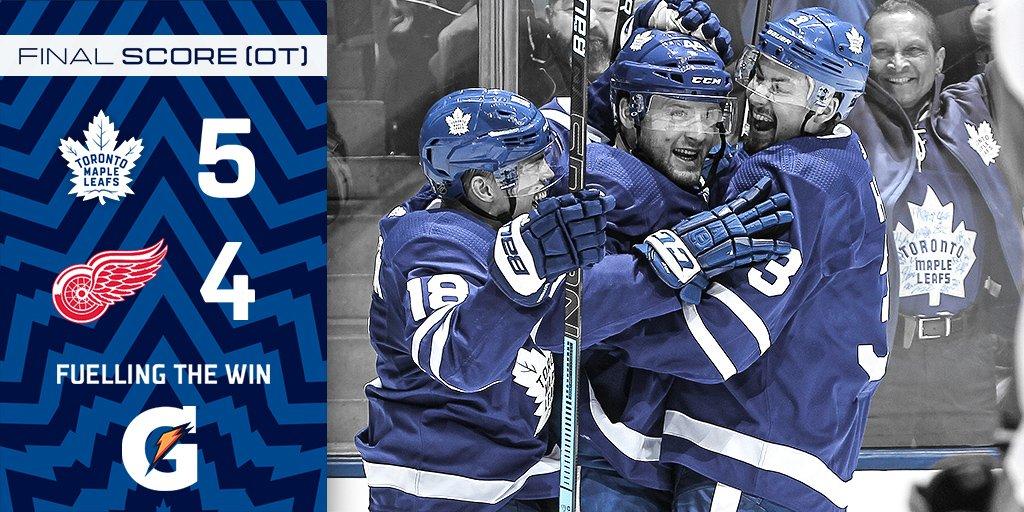 Com gol decisivo de Kasperi Kapanen, Maple Leafs vencem Red Wings