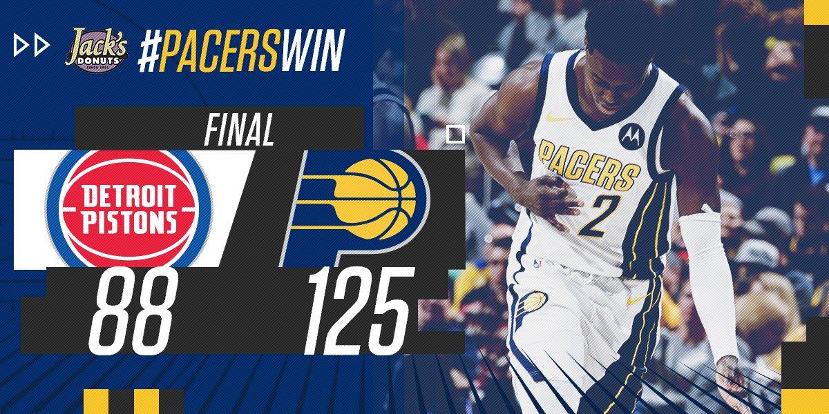Impiedosos, Pacers fazem mais uma vítima e batem os Pistons com facilidade