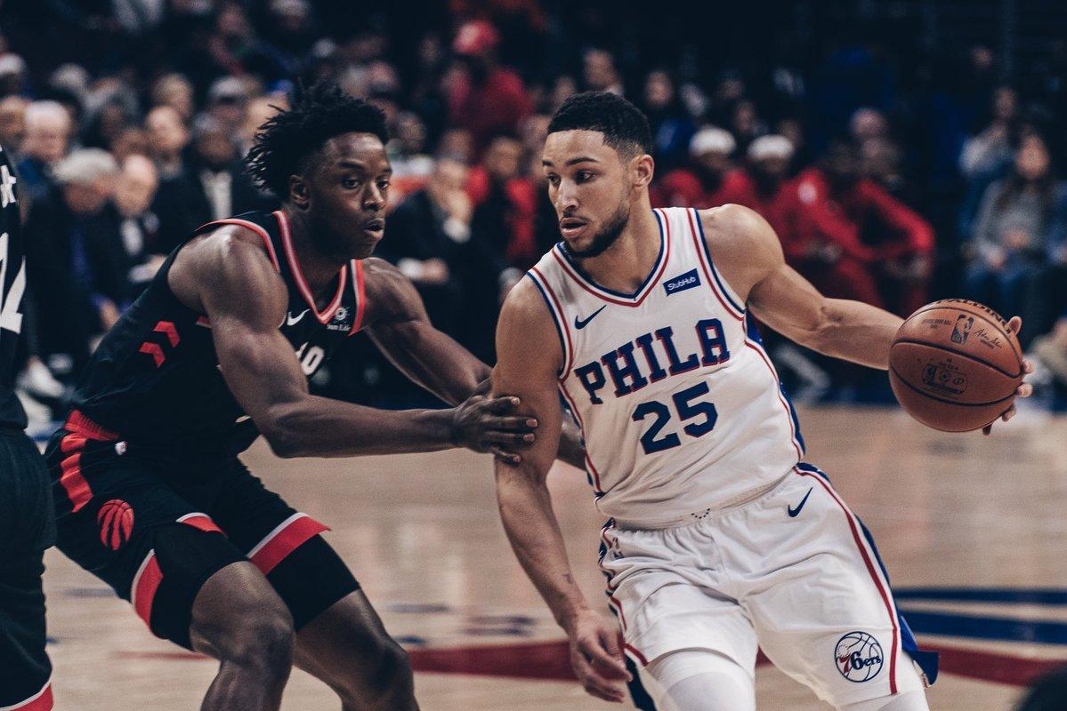 Embiid e Simmons se destacam e 76ers vencem os Raptors desfalcados
