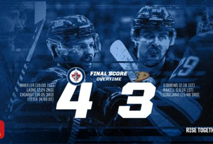 Winnipeg Jets vence no OT e Anaheim Ducks segue afundando - The Playoffs