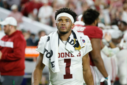 MIAMI, FL - DECEMBER 29: Kyler Murray #1 of the Oklahoma Sooners reacts after losing to the Alabama Crimson Tide in the College Football Playoff Semifinal at the Capital One Orange Bowl at Hard Rock Stadium on December 29, 2018 in Miami, Florida