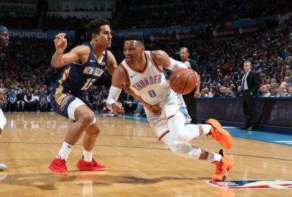 Westbrook lidera, anota triple-double impactante, e Thunder bate os Pelicans