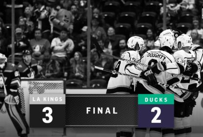 LA Kings vence Anaheim Ducks com gol do novato Carl Grundstrom - The Playoffs