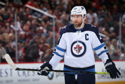 GLENDALE, ARIZONA - FEBRUARY 24: Blake Wheeler #26 of the Winnipeg Jets on the ice during the second period of the NHL game against the Arizona Coyotes at Gila River Arena on February 24, 2019 in Glendale, Arizona. The Coyotes defeated the Jets 4-1