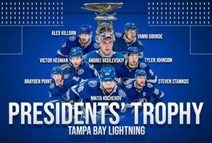 Lightning vence Coyotes e confirma conquista do Presidents' Trophy