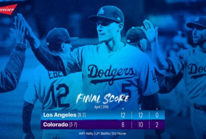 No Sunday Night Baseball, Dodgers completam varrida contra Rockies - The Playoffs