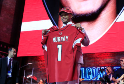 NASHVILLE, TENNESSEE - APRIL 25: Kyler Murray Oklahoma reacts after he was picked #1 overall by the Arizona Cardinals during the first round of the 2019 NFL Draft on April 25, 2019 in Nashville, Tennessee